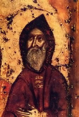Св. Антоний Печерски. Фрагмент от икона. Киев. Около 1288 г.